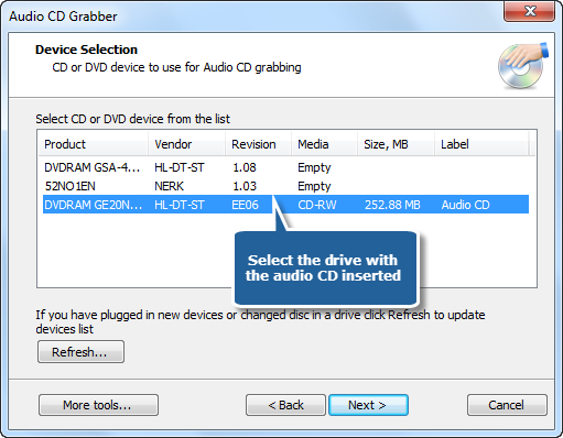 Select One of Usable Ripping Drives