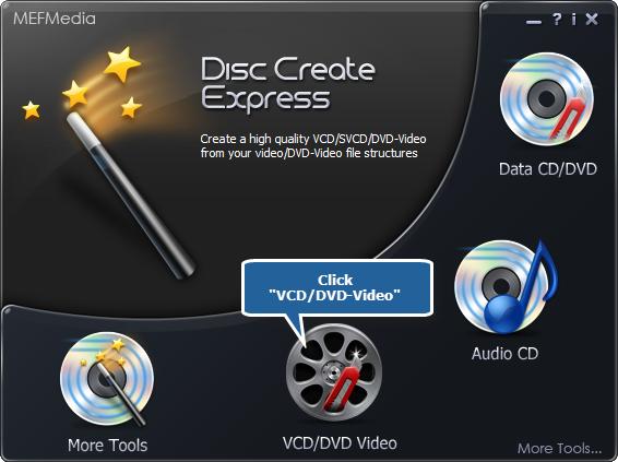 Choose Video DVD Burner