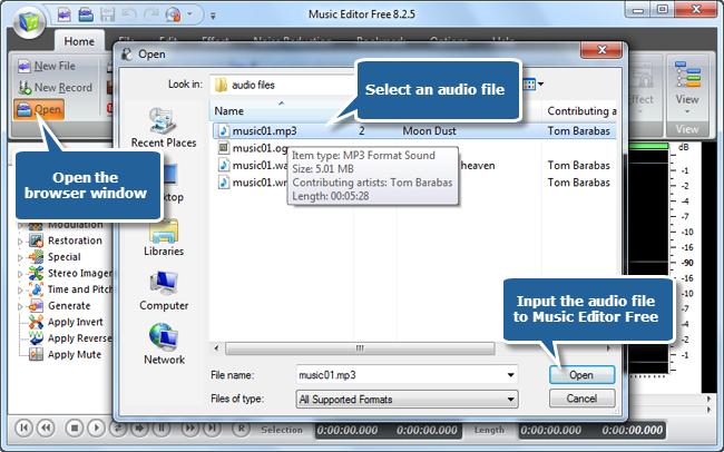 Input an Audio File