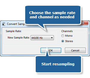 Choose a Sample Rate & Channel