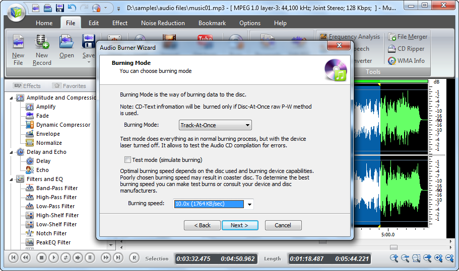 Use the Audio Burner Wizard to create your remix CD