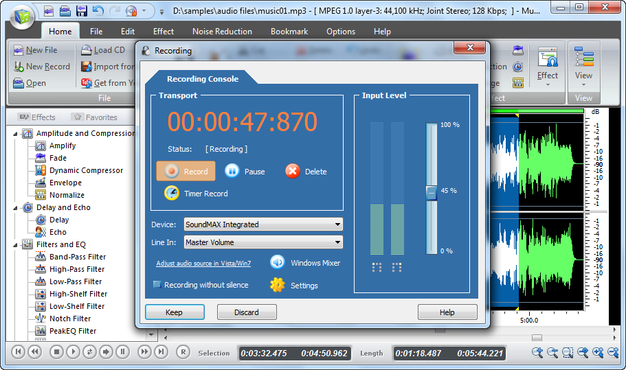 sound recorder and editor software free download